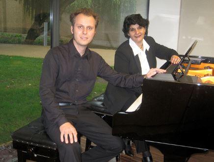 Chris and Syl at the Piano