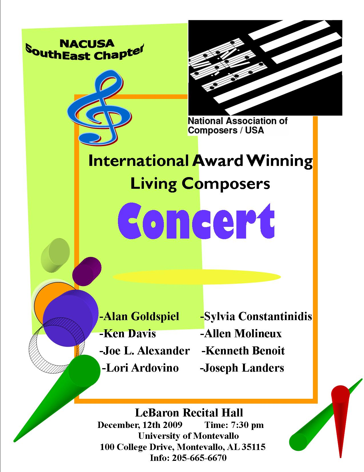 NACUSA Winter Montevallo Concert Flyer.j