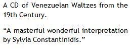 Venezuela Danzas XIX Century CD Review.J